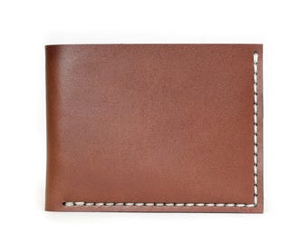 Bruce Bifold Leather Wallet - American Brown