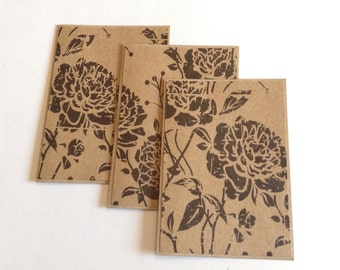 Rose cards, kraft greeting cards,  blank cards, any occasion, floral cards, Kraft stationery