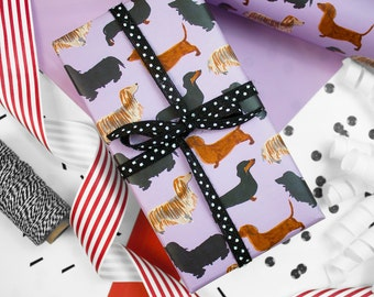 Doxies Gift Wrap, Single Sheet