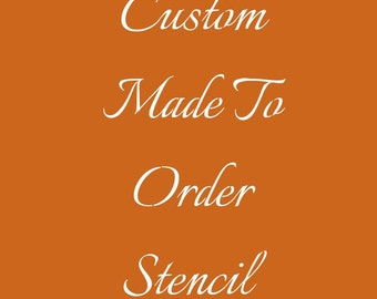 CONNECTED CALLIGRAPHY Custom Made Stencil - Made to Order - Letters & Numbers * A4 and A3 Size Options - Item Code:EtC113