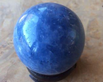 Blue calcite sphere- 145 g