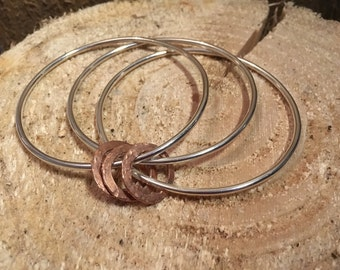 Sterling Silver & Copper Bangle