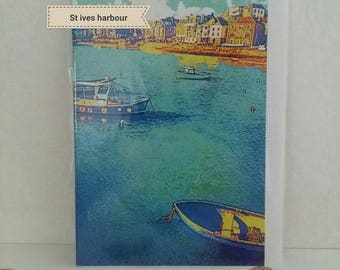 Cornish seascape greeting cards, handmade in Cornwall. Various designs; st ives, penzance