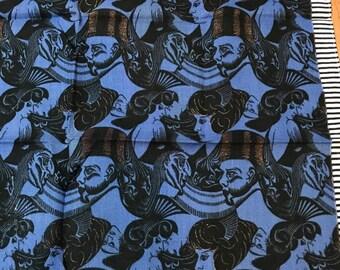 1922 eight heads by M.C. Escher Vintage Handkerchief