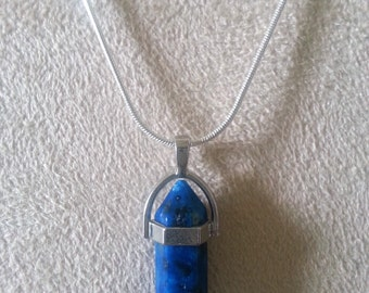 Chakra necklace, Deep Blue Swirl