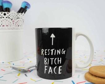 Resting Bitch Face Mug - Funny Gift for Her - Slogan Mug - Birthday Gift - Funny Mug - Rock On Ruby - Coffee Mug - Funny Mugs For Her