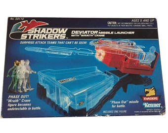 Shadow Strikers Deviator Missile Launcher with Wraith Crane Kenner 1990 MIB!