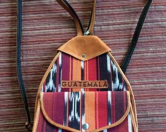 Guatemala Backpack,Guatemala Handbag,Ethnic Backpack,Ethnic Handbag,Backpack Purse,Guatemala Purse,Multi-Color Backpack,Latin America Purse