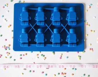 Brick Man Silicone Mould Mold, Cake Decorating, Cakes, Cupcakes, Cookies, Sweets, Candy, Jelly, Jello, Polymer Clay, Jewellery