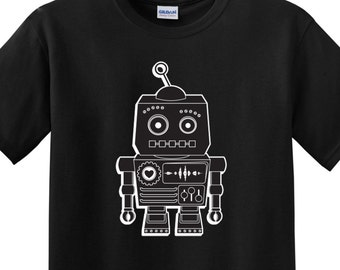 Robot Sci-Fi Shirt (Choice of Size and Color)