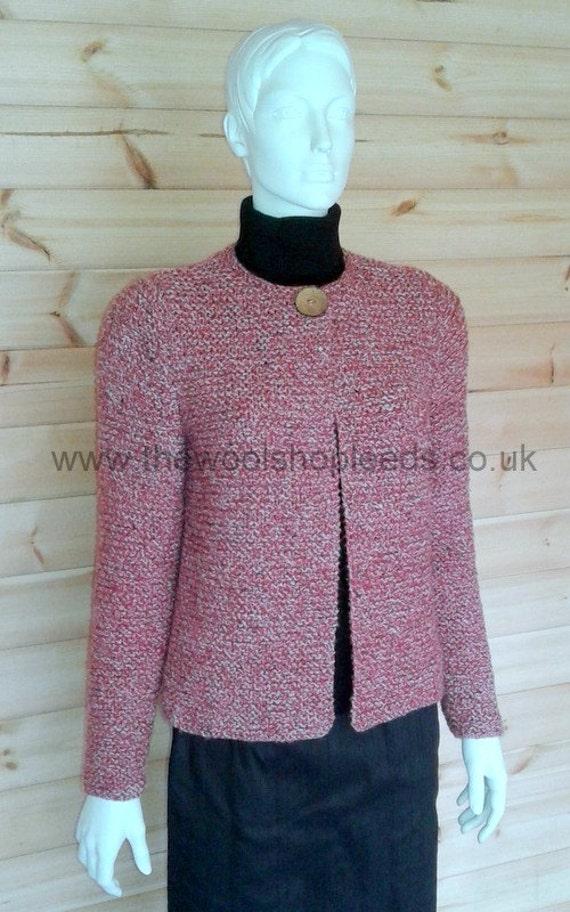 Knitting Pattern Jacket Chunky : Chunky Garter Stitch Jacket Knitting Pattern