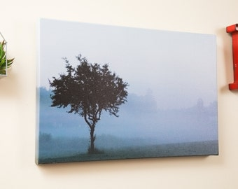Foggy Farm on canvas