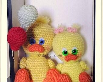 Duckling siblings - Amigurumi crochet doll
