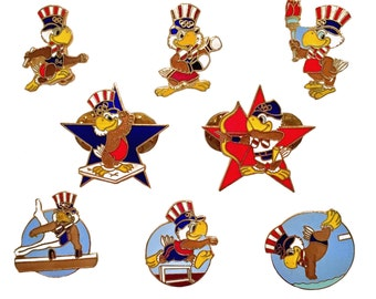 Vintage 1984 Los Angeles Summer Olympics USA Pins ft. Sam the Eagle - 7 to Choose From!