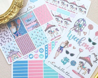 Happy Planner Candy Carnival Weekly Sticker Kit