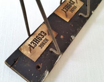 Vintage Store Display . Antique Display Rack . Rustic Hanging Rack . Industrial Decor . Vintage Automotive Collectible . Organization