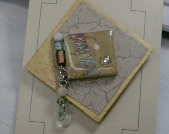 Changeable Badge Cover - Brown and Green