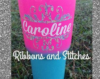 30oz RTIC Pink/Blue ombre