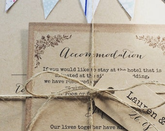 Twine and Personalised Mini Luggage Tag