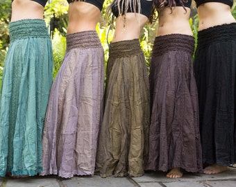 Anna free flow, cotton lace, maternity, hippy skirt