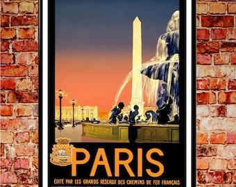 Paris 1937 Poster Vintage Parisian Poster Paris Print Paris Art Poster French Print French Wall Art