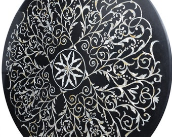 Decorative  Marble Table Top Made from Mother of Pearl (MOP) with Excellent Inlayed Designs