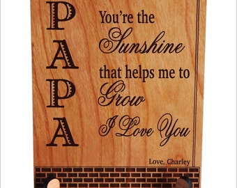 Personalized Papa Gift, Papa Keepsake Plaque, Papa Christmas Gift, Grandpa Gift,Granddad Plaque, Grandfather Gift, Papa Birthday Gift PGP002