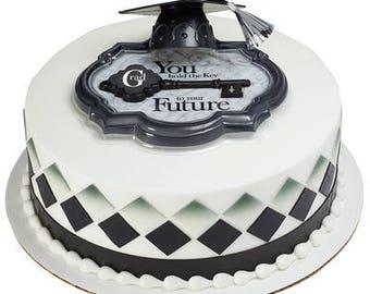 Graduation Cake Topper Decoration Key to Success Graduate Cake Topper