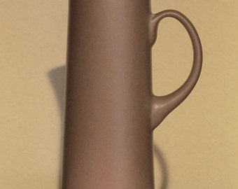 Tall Slender Chefsware Pitcher in Taupe Matte Finish