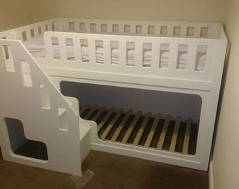 Bunk Bed - Single - Handmade Custom Bunk Beds. Delivery cost includes installation.