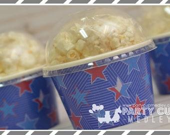Rock Star Birthday Party- Treat Cups-Patriotic Popcorn Cups