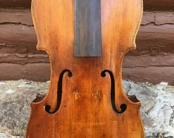 Antique Old Violin For Restoration, probably Italian