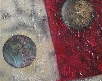Soulmates - 40 x 50 x 1,5 cm by Virginiya Savova, abstract, pure, deep