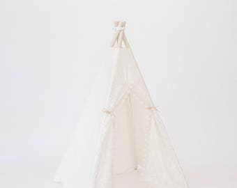 CREAM LACE Itty Bitty Eleanor Teepee