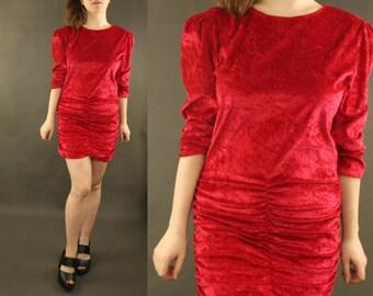 80s dress - vintage dress, one of a kind, short dress, red dress