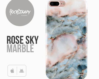 Rose Marble iPhone 7 Case, iPhone 6, 6s Plus, Samsung Galaxy S8, S7,  S6 Cover, 5S, SE, 5C designer fashion cell phone case, gift UK,