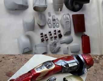 Iron man arm mark 42/43 raw cast kits lifesize wearable