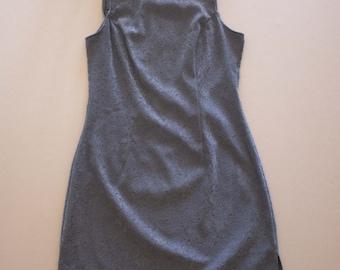 90's Velvet Grey Paisley Dress