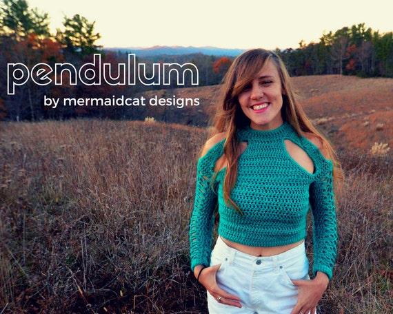 Crochet sweater pattern cold shoulder cut out - Pendulum