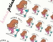 25% OFF A043   WORKOUT Keenachi Repositionable Stickers Perfect for Erin Condren Life Planner, Filofax, Plum Paper & other planner or scrapb