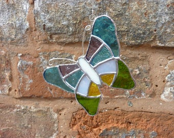 Stained Glass Butterfly suncatcher,Blue butterfly,