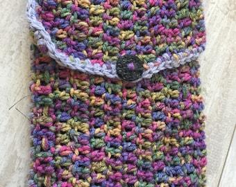 Multicolored shoulder bag W/ black lining