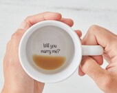 Marry Me Mug, Will You Marry Me Mug, Proposal Mug, Secret Message Mug, Hidden Message Mug, Marry Me, Surprise Proposal, Proposal Ideas