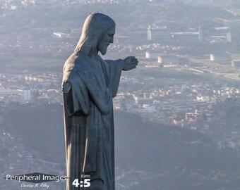 Fotografía de Brasil, Foto de Rio de Janeiro, Cristo las huellas del Redentor, Foto brasileña, Rio de Janeiro impresión Fine Art; Rio de Janeiro Brasil