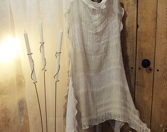 LINEN DRESS - Women loose fitting - Linen long dress O3