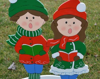Christmas Children lawn stakes xmas stakes lawnn decore lawn decorations yard art garden art