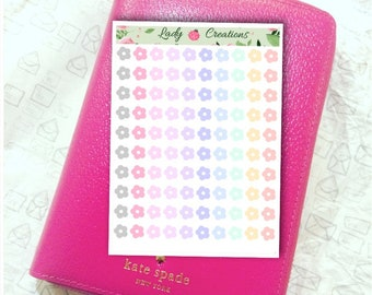 104 | Pastel Dot Flower Points, Dots for to do lists and bullet journalling - Planner Stickers