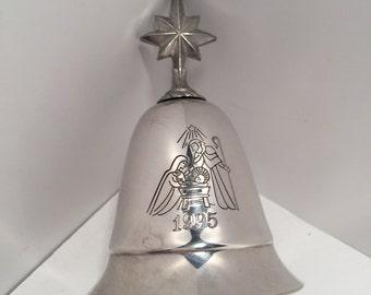 Vintage Kirk Stieff 1995 musical Christmas bell