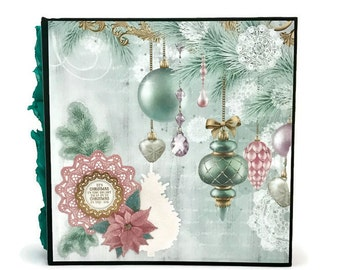 Christmas Photo Album, 8x8 Scrapbook, Christmas Gift, Christmas Decoration, Christmas Memory Book, Scrapbook Album, Family Photo Album
