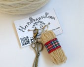 Set of Mini Yarn Ball and Scissors Knitting Stitch Markers. Progress Keepers. Gifts for knitters, crocheters.
